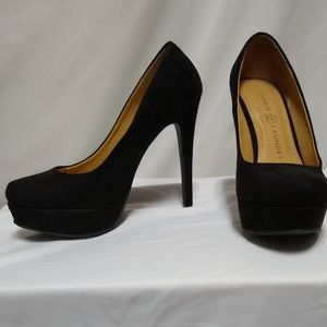 Worn Once Chinese Laundry Suede Platform Heels